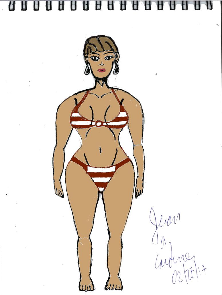 Brunette Woman Drawing by Juancardenes