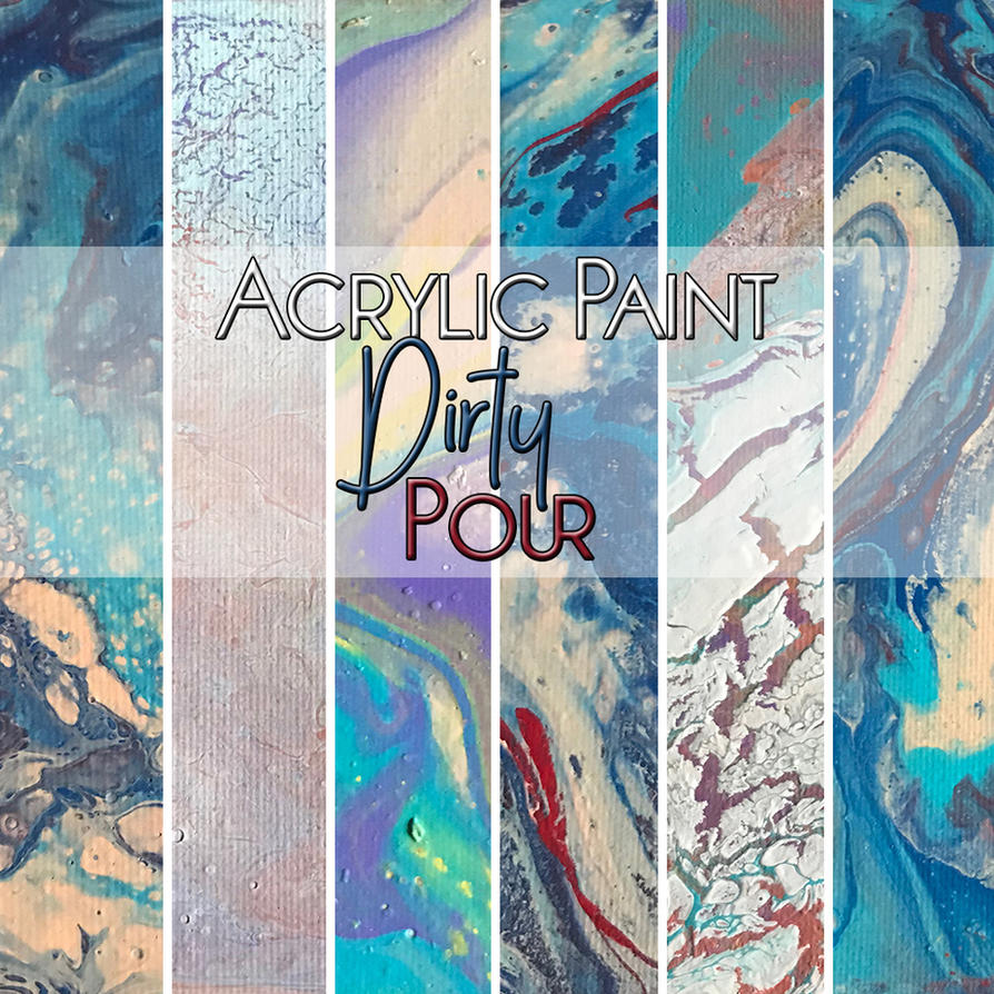 Acrylic Dirty Pour Textures by temptresskitty
