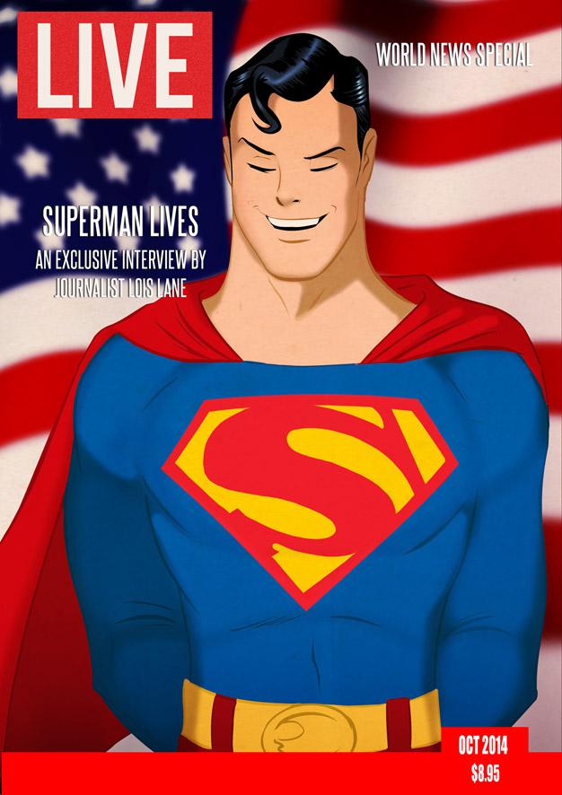 Superman Lives By Joe Otis Costello & Des Taylor by DESPOP