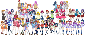 Pretty Cure School Uniforms