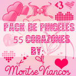 Pack de 55 heart's brushes to photoshop