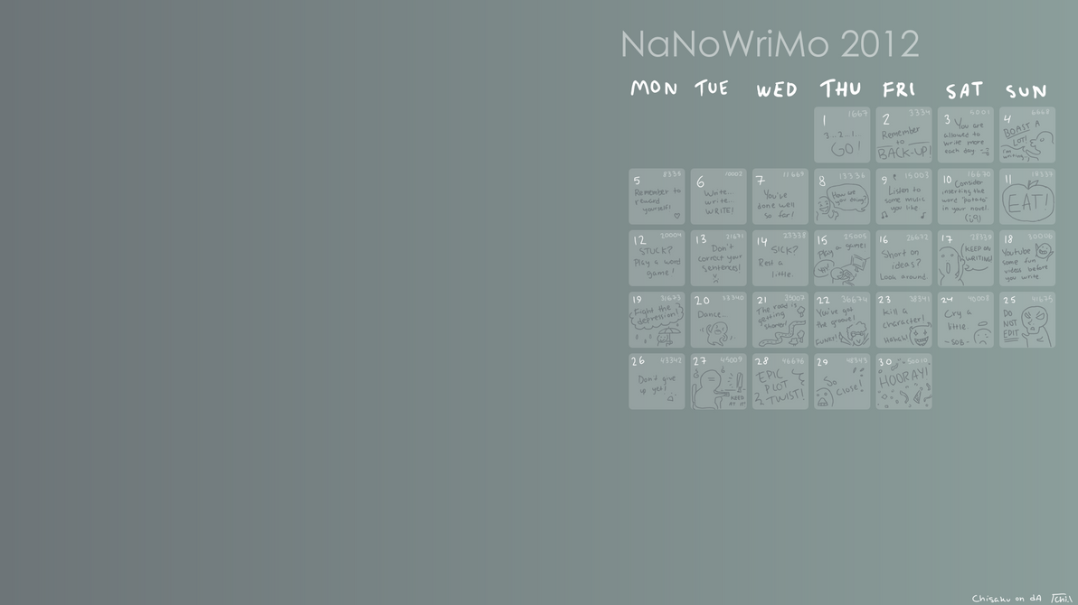 Diy Calendar Background : Diy nanowrimo calendar wallpaper gimp by chisaku on