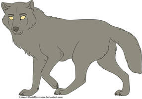 Free Wolf Lineart by Wildfire-Tama