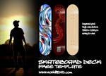 Free Blank Skateboard Deck PSD Template