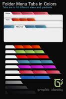 Folder Menu Tabs by GraphicIdentity