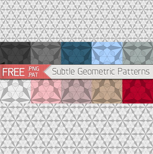 Subtle Seamless Pattern 1 - Geometric Patterns by GraphicIdentity