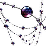 Jewel necklace brush