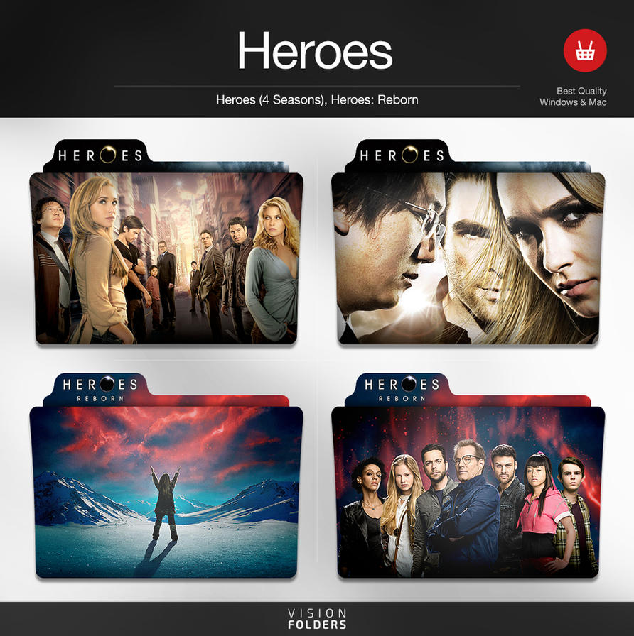 Heroes tv folders by visionfolders on deviantart