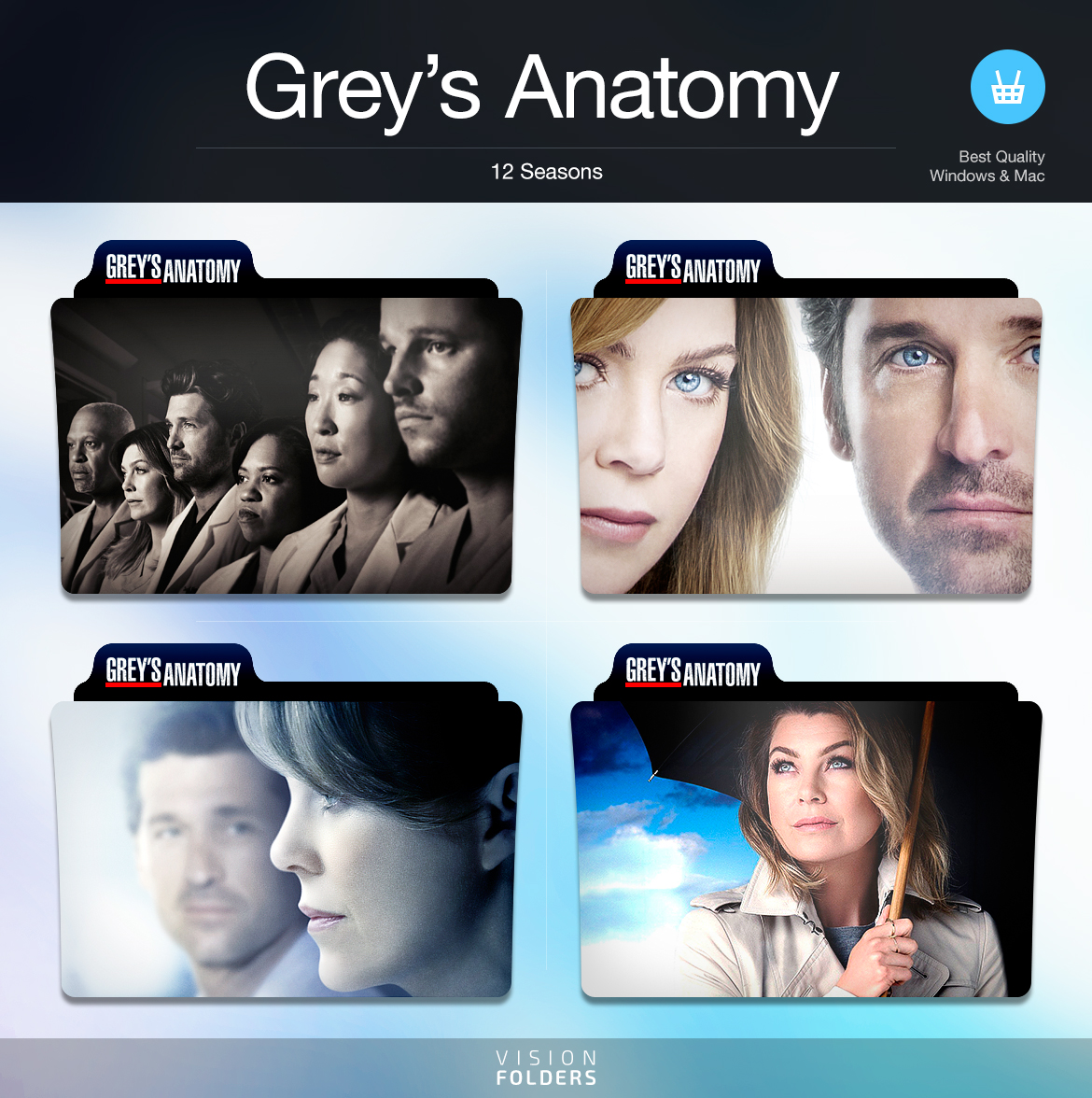 Grey\'s Anatomy TV Folders by VisionFolders on DeviantArt