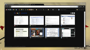 Dark Transparent Google Chrome