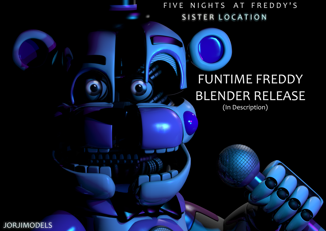 Mmd Funtime Freddy: Funtime Freddy Blender Release By Jorjimodels On DeviantArt