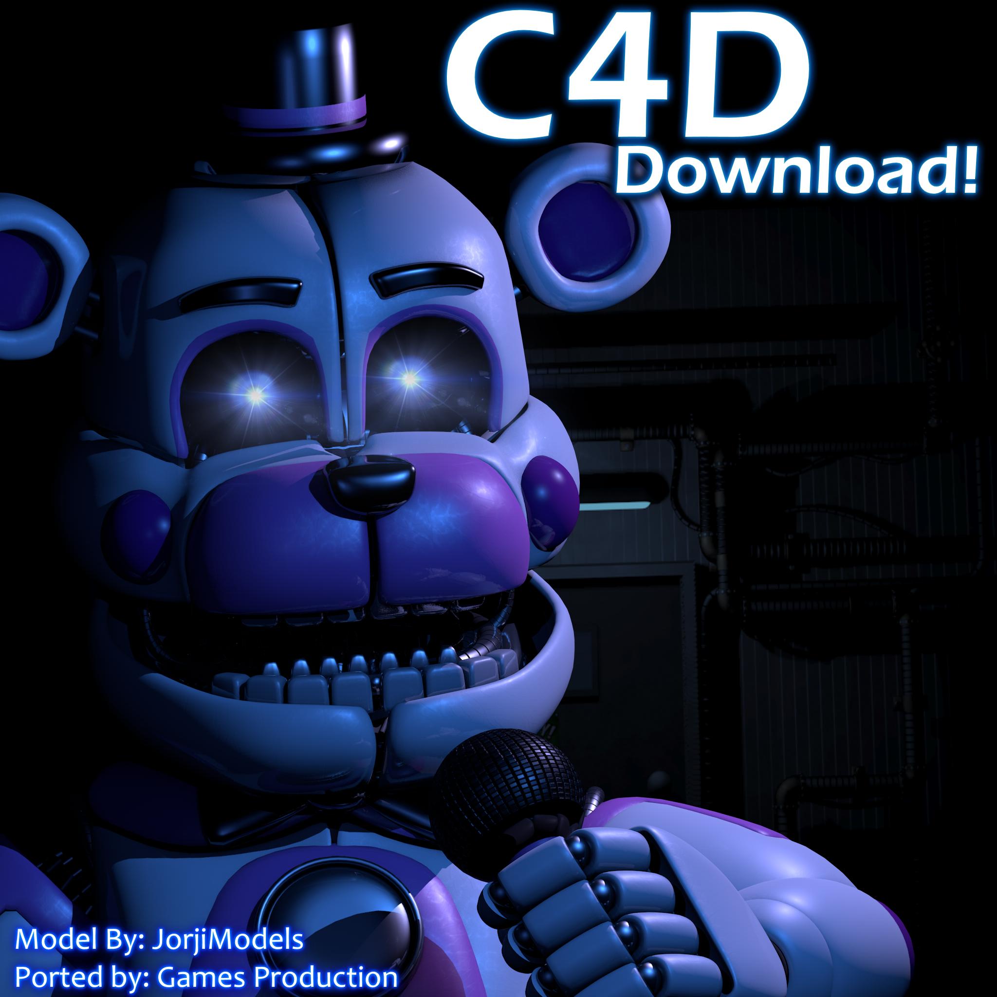 Funtime Freddy V5 Cinema 4D Download by jorjimodels on