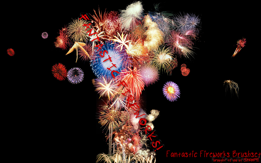 Fantastic Fireworks BrushSet by sheaallen