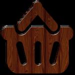Glossy Waxed Wood Shopping Icons