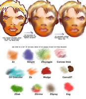 Manga Studio v4  Paint Brushes by 888toto