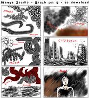 Free Manga Studio Custom Brushes - set 4 by 888toto