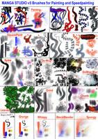Manga Studio v5 Brushes for Speedpainting by 888toto