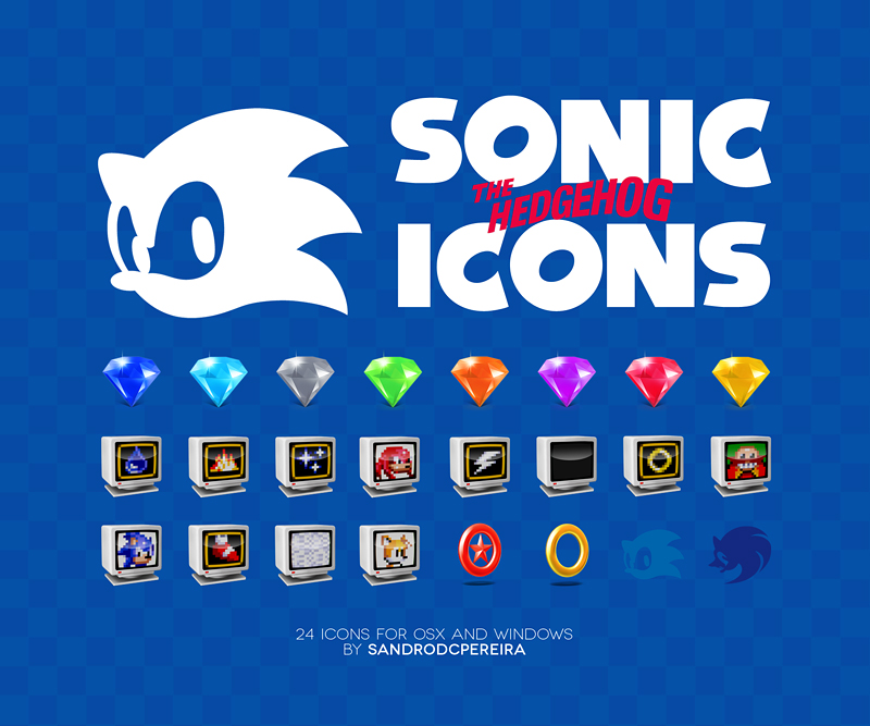 Sonic the Hedgehog Icons