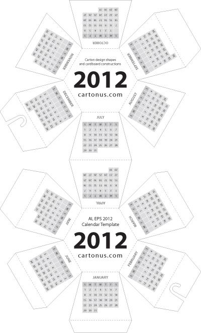2012 Calendar Hexahedral by cartonus