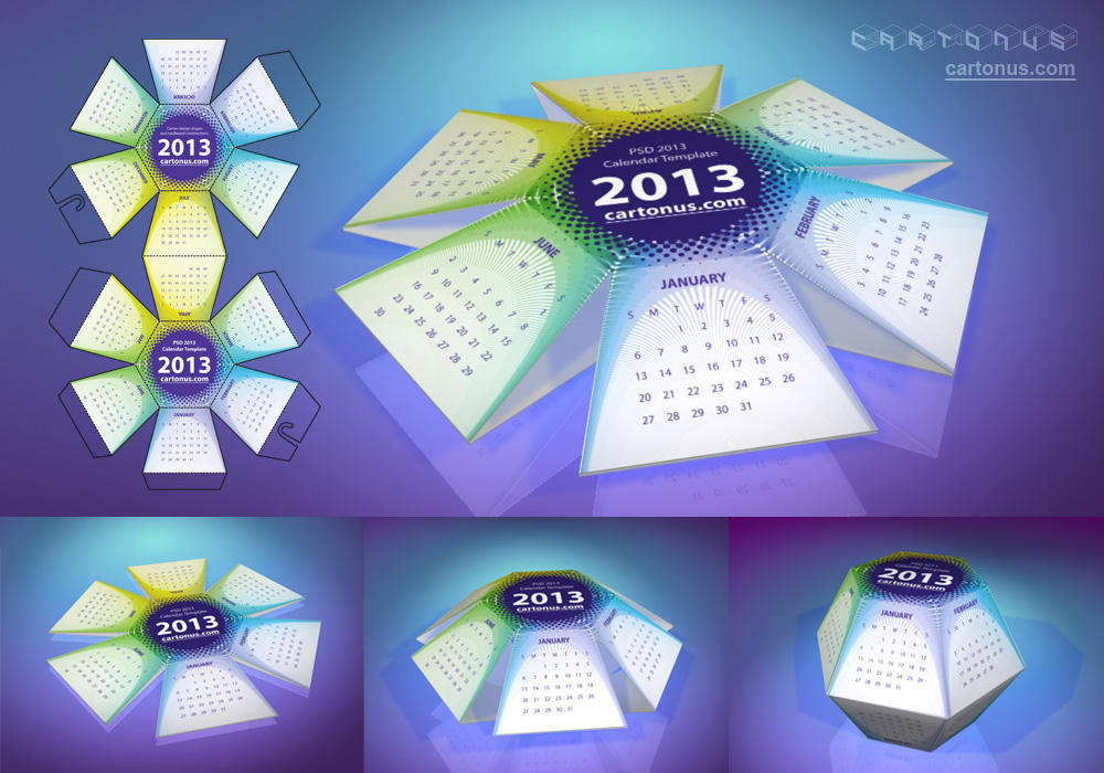 2013 Calendar Hexahedral Psd By Cartonus On Deviantart
