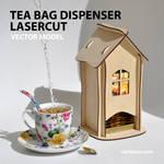 Tea bag dispenser of plywood