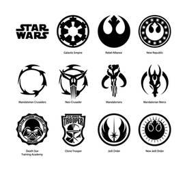 Star Wars vector emblems