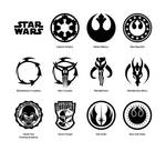 Star Wars vector emblems