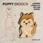 Puppy-dog brooch by cartonus