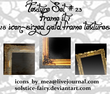 Texture Set 23 - Frame it 1 by solstice-fairy