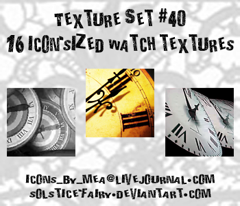 Texture Set 40 - Watches by solstice-fairy