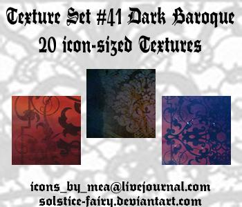 Texture Set 41 - Dark Baroque by solstice-fairy