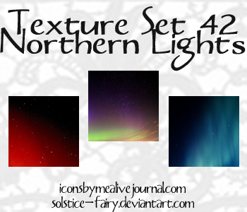 Texture Set 42 -Northern Light by solstice-fairy