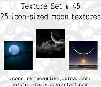 Texture Set 45 - Moon by solstice-fairy