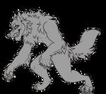 Werewolf lineart !!