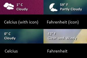 Simple Weather for rainmeter by maxvanijsselmuiden