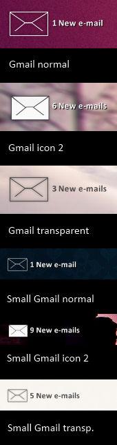 Gmail skin for Rainmeter