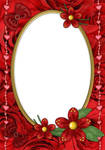 Beautiful Red Design PSD Frame