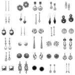 30 Pairs Earrings PS Brushes 3