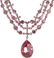 Beautiful Pink Necklace PSD by Anavrin2010