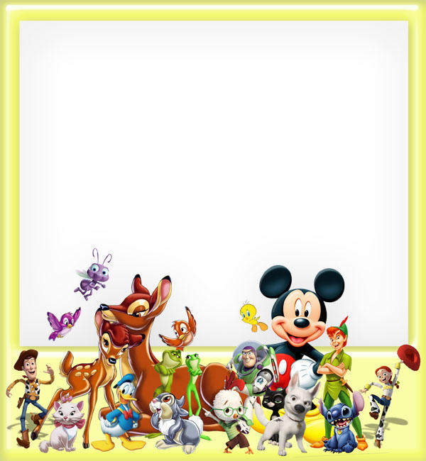 Border Design Disney Character : Cartoon character frame psd by anavrin on deviantart