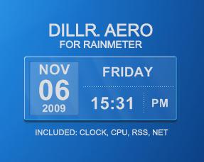 Dillr Aero for Rainmeter by XantoZ