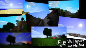 Minecraft Wallpaper collection by F4celessArt