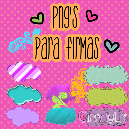 Pack de Png's Para Firmas by CinndyLu