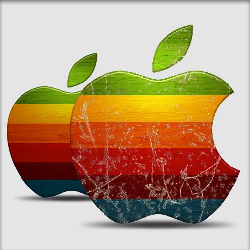 Weathered Apple Icon