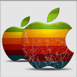 Weathered Apple Icon