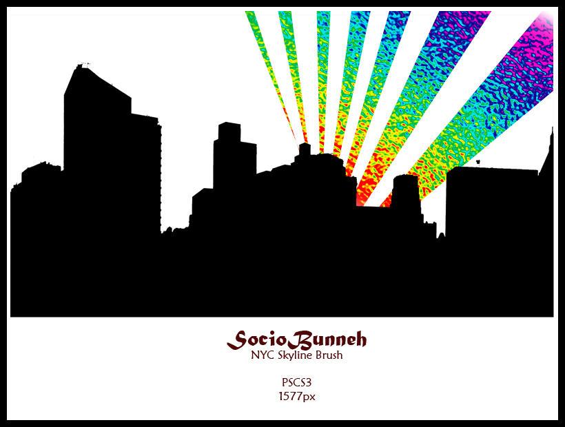 SBunneh NYC Skyline Brush by AnotherJamesDean