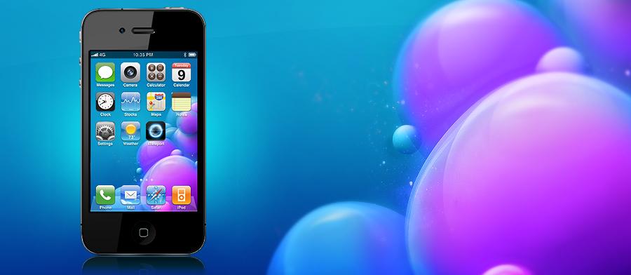 Iphone 4 Bubble Wallpaper by simonohm