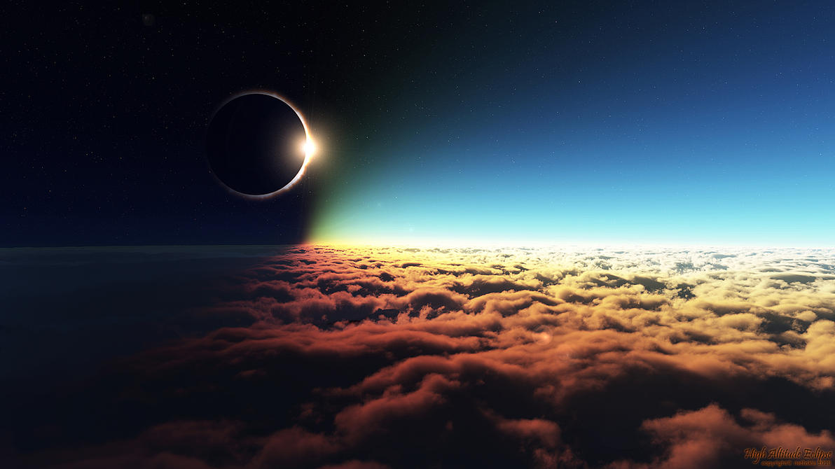 High Altitude Eclipse by nethskie