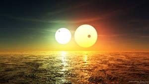 Waterworld Rain: Binary Sunset