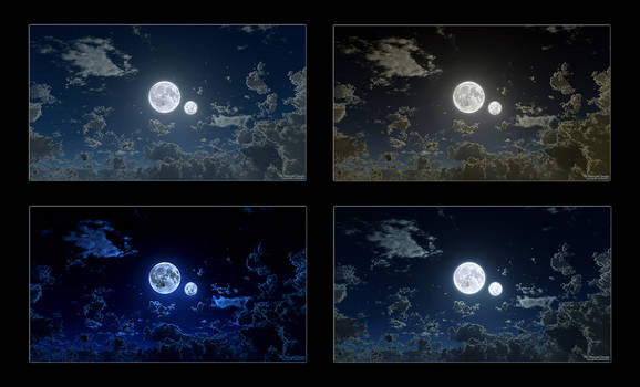 The Moon and Lunaria 1080p Wallpaper Pack